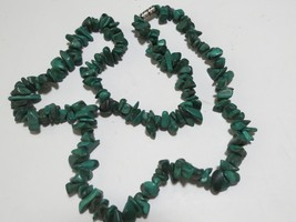 Malakite necklace necklace 20 inches very pretty image 2