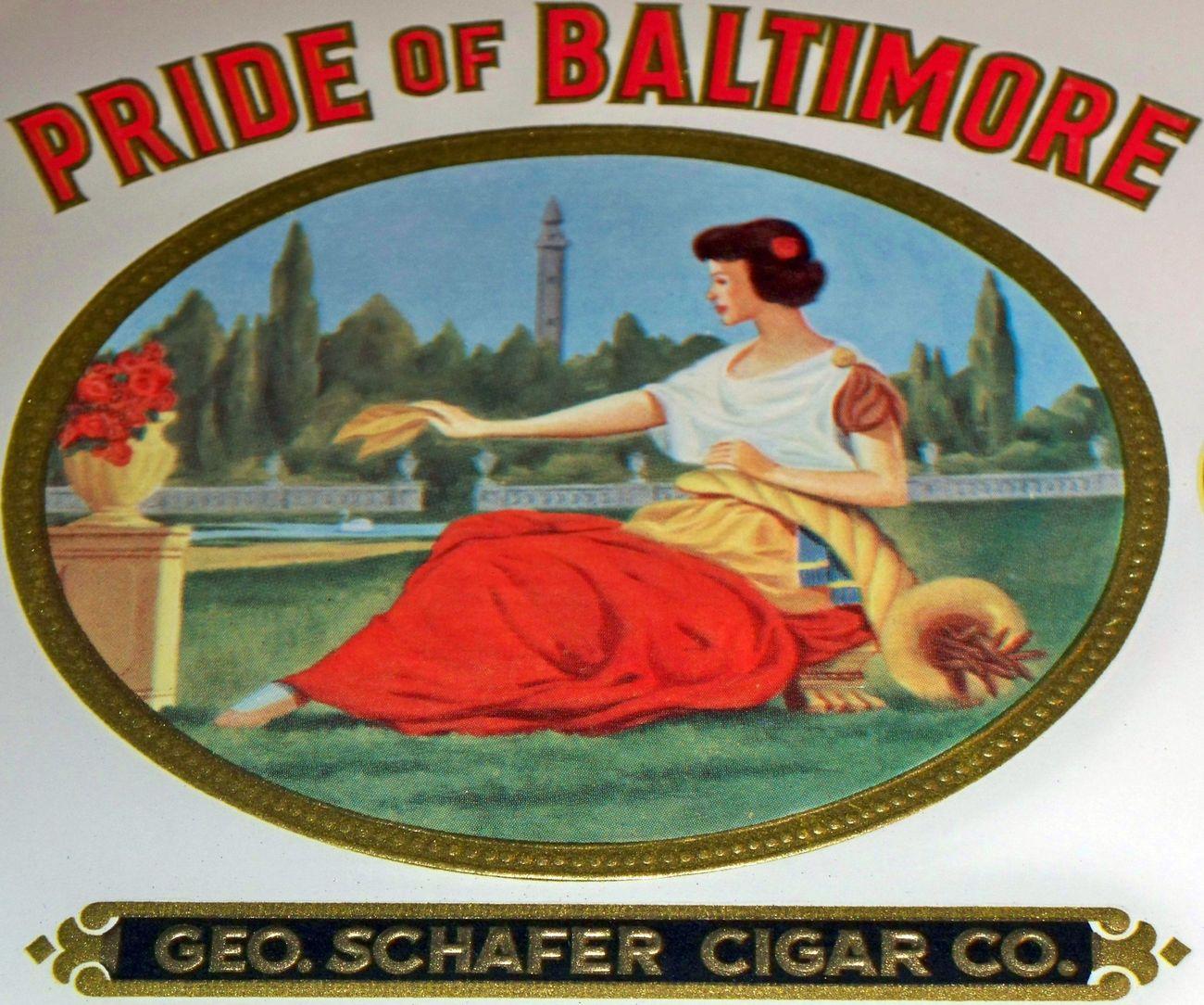 Pride of baltimore inner cigar label 002