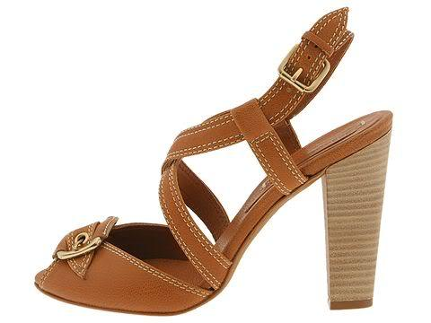 BCBG 9.5 Max Azria Isreal Womens Shoes Chunky Heels Tan Strappy Buckle Leather