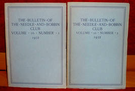2 Bulletin Of Needle and Bobbin Club 1932 Lace Embroidery Craft Hobby - $17.50