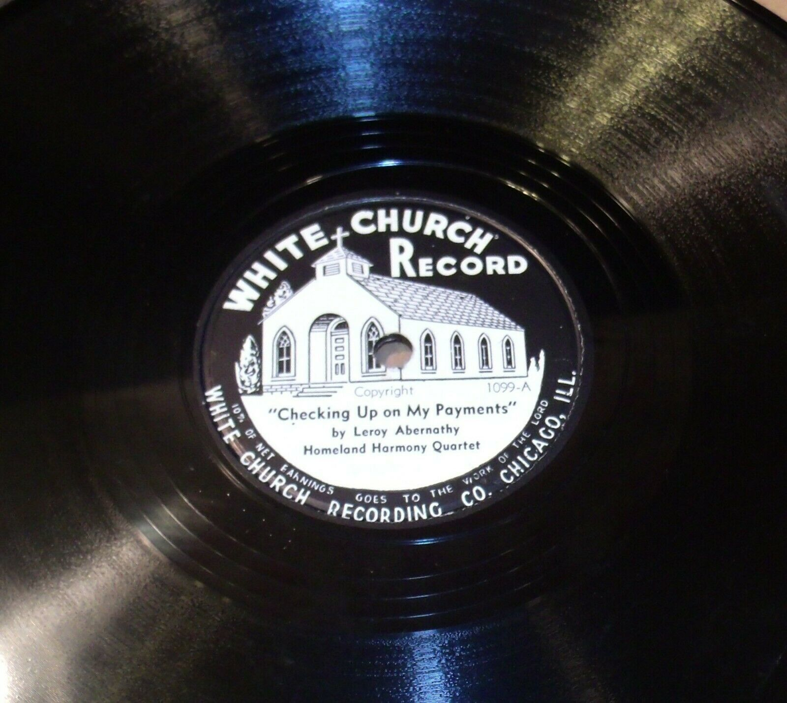 White Church Record # 1099 AA-191720H Vintage Collectible