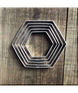 Set of 5 Hexagon Metal Cookie Cutters #NAWK155 - $6.75