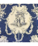 Les trois muses french toile cotton music motif print xwide fabric by th... - $95.04