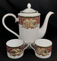 Noritake ROYAL HUNT Coffee Pot and 2 Cups Rabbit Pheasant Dogs Red Green... - £94.94 GBP