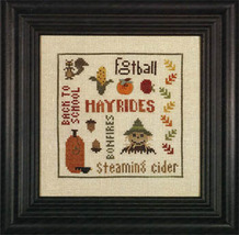 What Makes It Autumn cross stitch chart Heart in Hand  - $7.20