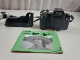 Canon EOS Rebel S II Film Camera 35mm SLRy No Lens Black Body instruction/Strap - $28.50