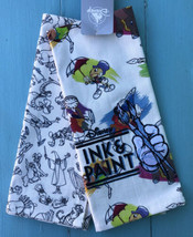Disney Parks Ink and Paint Sketch Characters Set Of 2 Kitchen Dish Towels W/ Tag - $21.49