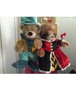 Build A Bear Happy Hugs Teddy Disney Queen of Hearts & Mad Hatter Gift S... - $67.32