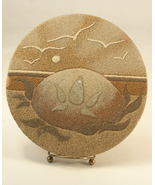 Sand Painting Titled Christmas Faith 1977 Ocean Impressions Signed - $25.00