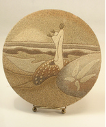 Sand Painting Named Christmas Wisdom 1977 Ocean Impressions - $25.00