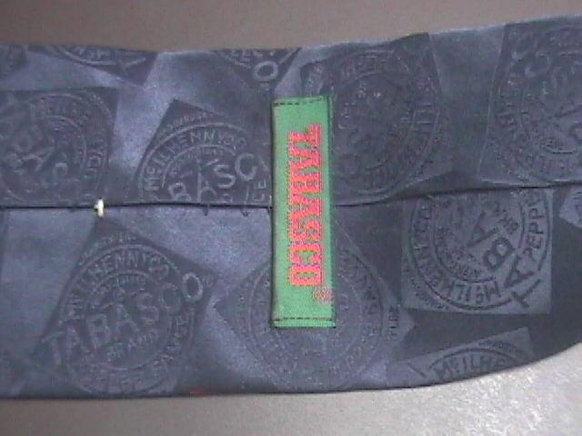 Tabasco Neck Tie Golf Clubs Golf Bag and Tabasco Silk