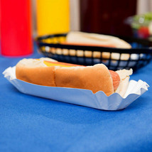 "9000/Case Commercial Heavy Weight 6"" White Paper Fluted Hot Dog Tray Fre... - $200.00"