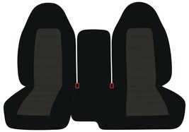 Front Set Car Seat Covers Fits Chevy Colorado 2004-2012 60/40 Highback - $109.99