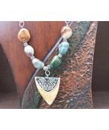 Jasper Necklace Shield and Jasper Necklace Hand... - $24.00