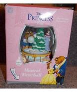 Disney Beauty & The Beast Princess Belle Musical Snow Globe With The Box - $74.99