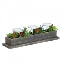 Reclaimed Wood Succulent Candle Display - $43.26