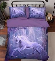 3D Magic Unicorn Bed Pillowcases Quilt Duvet Cover Set Single Queen King Size AU - $90.04+