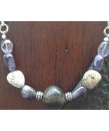 Amethyst Jasper Necklace Handmade In USA February March Pisces Birthstone  - $39.99