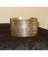 Silver Tone Cuff Bracelet Butterfly Detailed Design New - $24.95
