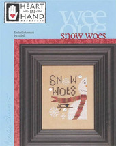 Snow Woes Wee One winter cross stitch chart Heart in Hand  - $7.65
