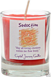 Seduction Herbal Magic Votive Candle - Crystal Journey