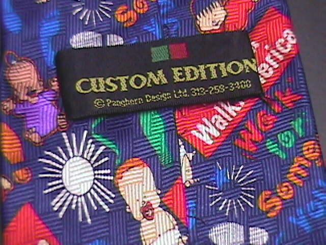 March Of Dimes Walk America Neck Tie K-Mart Custom Edition