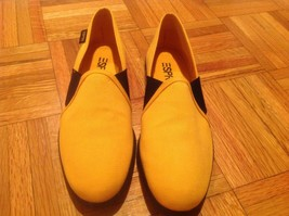 Easy spirit natural fabric shoes yellow color size 8.5 new in box - $24.75