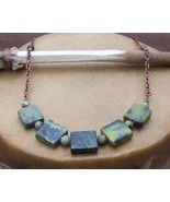 Turquoise and Copper Necklace Hand Made In USA Turquoise Necklace - $59.99