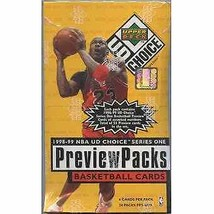 1998/99 Upper Deck Choice Preview Basketball Box - $159.95