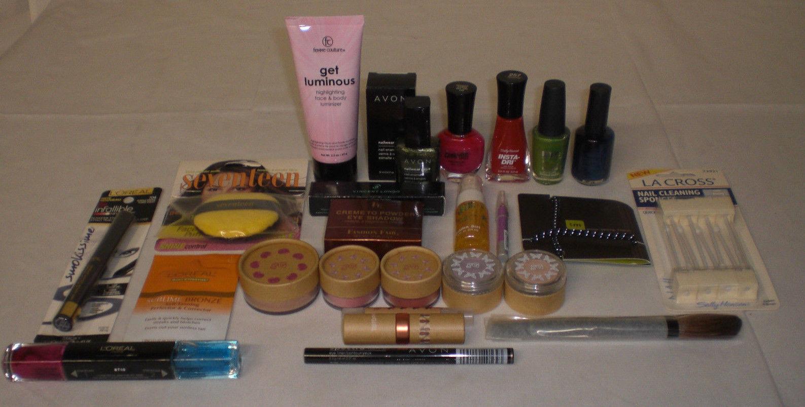 Brand name mixed makeup cosmetics HBA Sally Hansen Avon NYC GeoGirl Lot of 150 - $65.41
