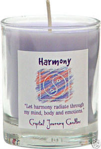 Harmony Herbal Magic Votive Candle - Crystal Journey