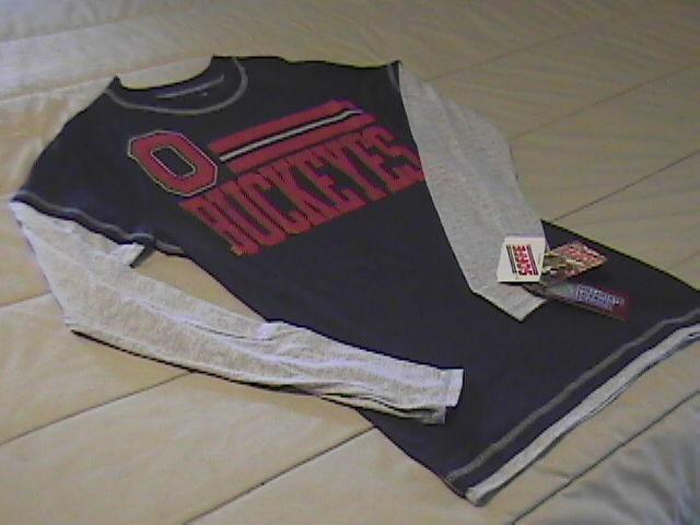 Shirt t shirt  ls soffe buckeyes black red   grey  medium new with tags  01