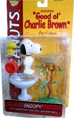 Peanuts Snoopy Woodstock Figures Birdbath Dog Dish NEW