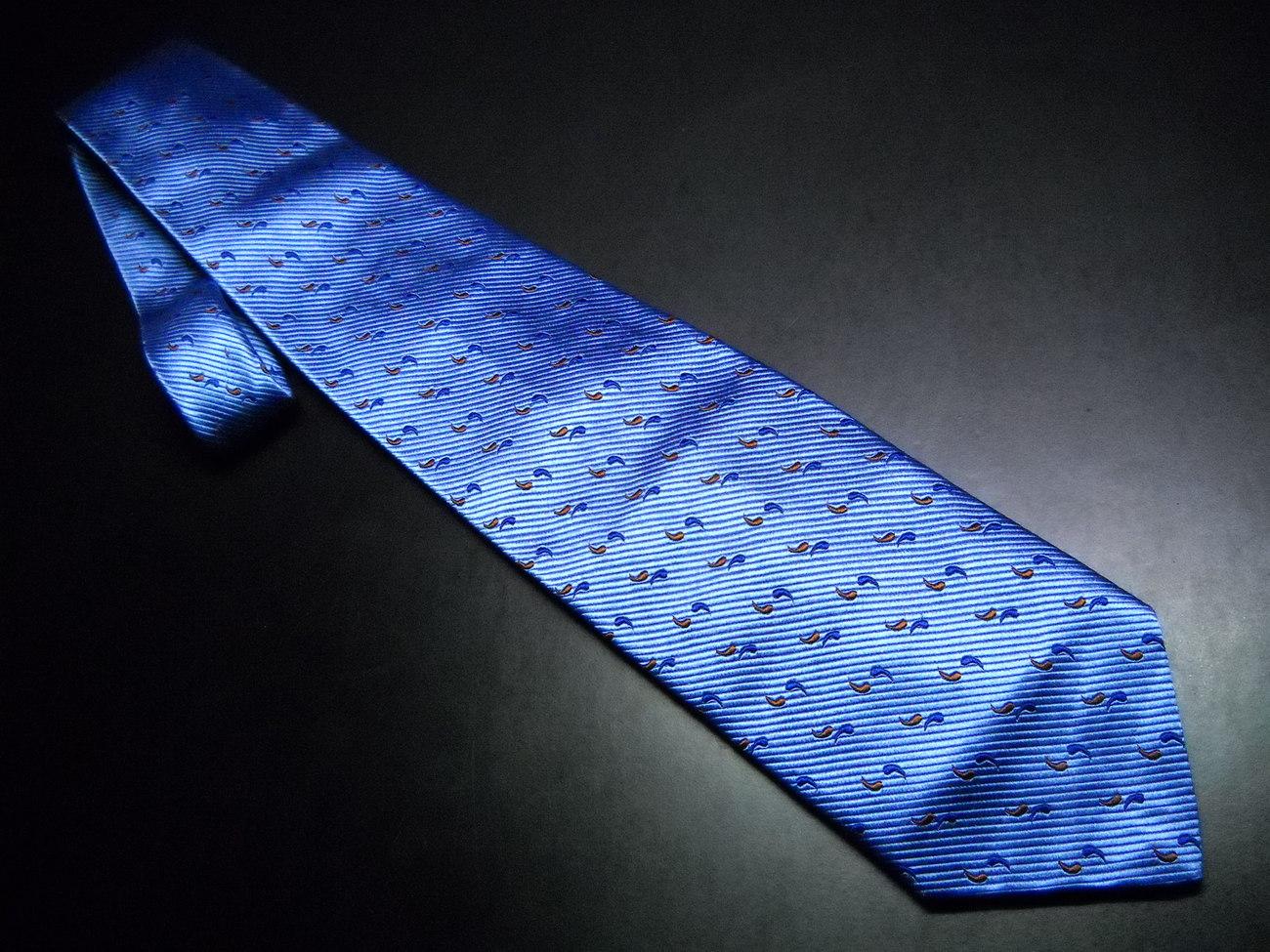 Tie f.r. tripler   co diagional stripes of blues 01