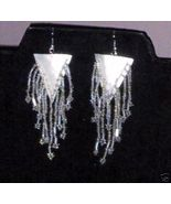 Chandelier Earrings Earring Shell Gorgeous Beading NEW - $24.95