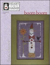 Boom Boom snowman winter cross stitch chart Heart in Hand  - $13.05