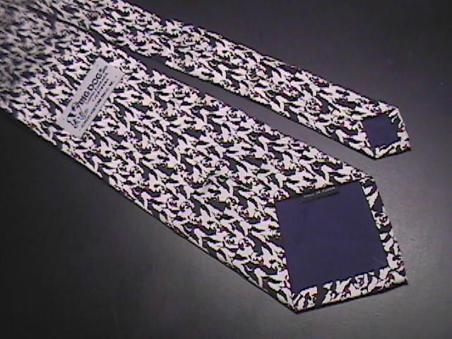 Big Dogs Neck Tie Hand Made Repeating Dogs