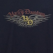 Harley Davidson Sweatshirt Jacket 1X Black Atlanta 2007 Zip Up Black Cotton - $36.58