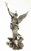 BRONZED BAROQUE SAINT MICHAEL ARCHANGEL SCULPTURE MICHAELSKIRCHE CHURCH ... - £36.71 GBP