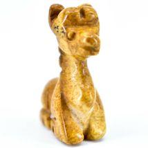 Picture Jasper Gemstone Tiny Miniature Giraffe Figurine Hand Carved in China image 5