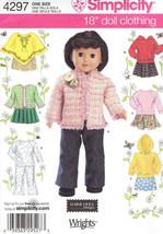 "18"" Doll Clothes Poncho Pants Top Skirt Jacket Sweatshirt S 4297 Sew Pat... - $8.41"
