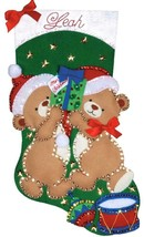 Design Works Teddy Bear Fun Christmas Drum Toys Holiday Felt Stocking Kit 5230 - $29.95