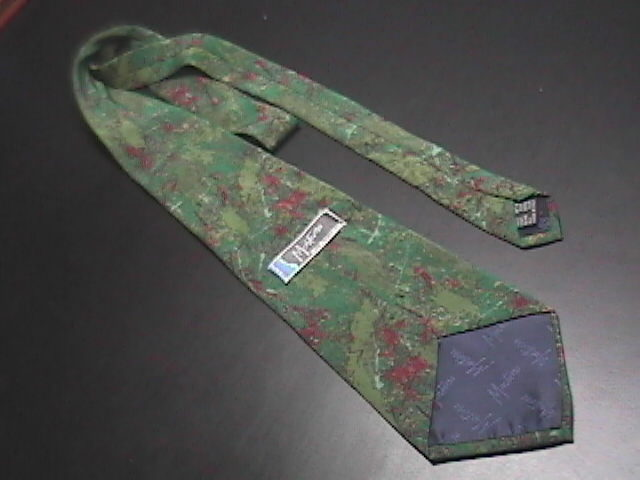 Montana Neck Tie Greens Reds Made in Italy Silk