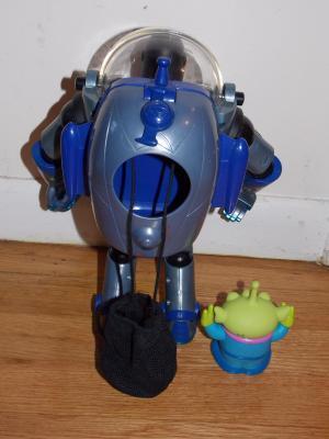 2001 Disney Pixar Search & Rescue Buzz Lightyear Talking Figure & Alien