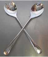 Vintage Salad Serving Fork & Spoon Set Silverplated Made in Italy - $19.99