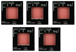 5 Maybelline Fit Me Blush Wine Fard A Joues, #50, Lot of 5, NEW IN PACKAGE - $37.18