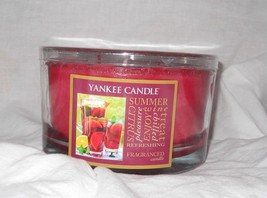 Yankee Candle Summer Wine 17 oz jar 3 wick Black - $16.92