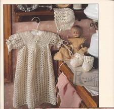 Christening Gown, Bonnet & Booties Crochet Pattern~2 Designs~By Kay Mead... - $29.99