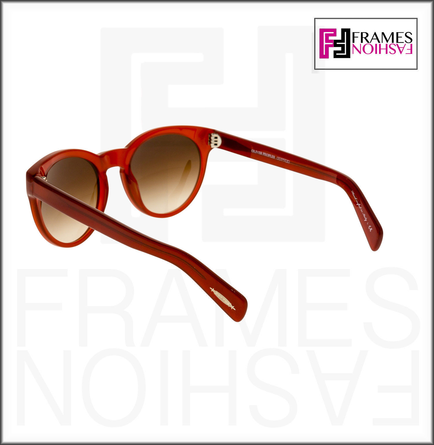 OLIVER PEOPLES ALIVIA OV5216S Red Blood Translucent Brown Round Sunglasses 5216 image 3