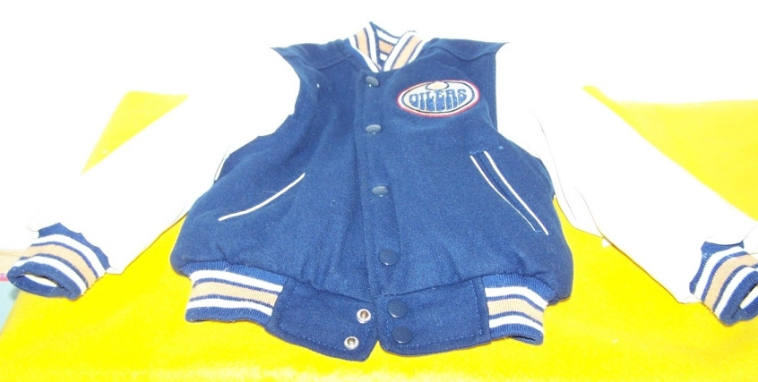 NHL Edmonton Oilers Boys Junior Jacket Good Condt 3-5 Y